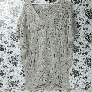 Eileen Fisher Cotton Wonder Open Stitch sweater L